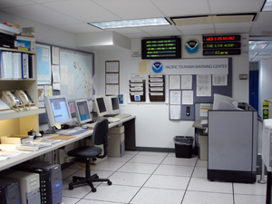 PTWC operations area.